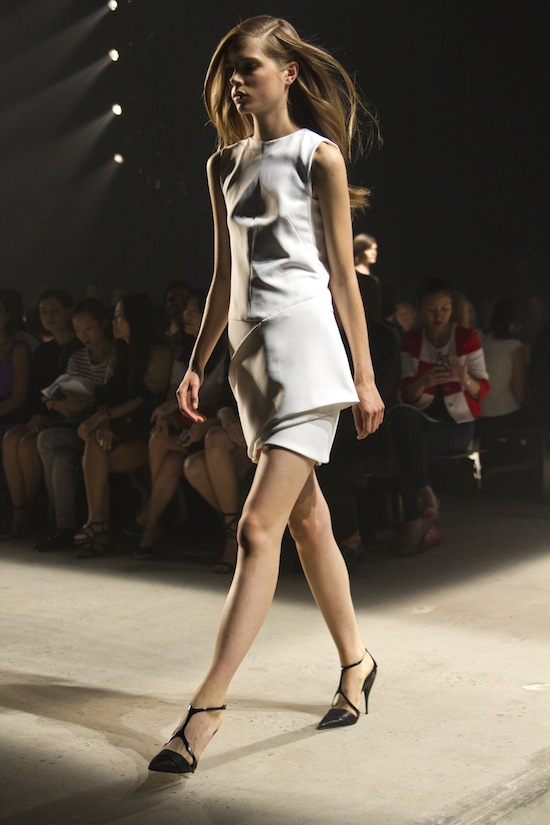 Beautiful draping and pure elegance at Narciso Rodriguez Spring 2014.
