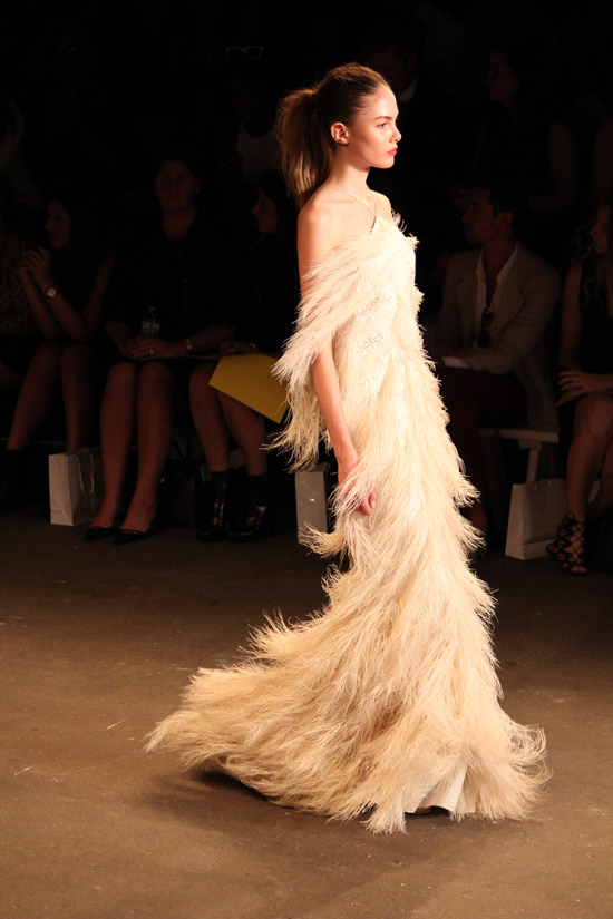 Red-carpet glamour at Christian Siriano Spring 2014.