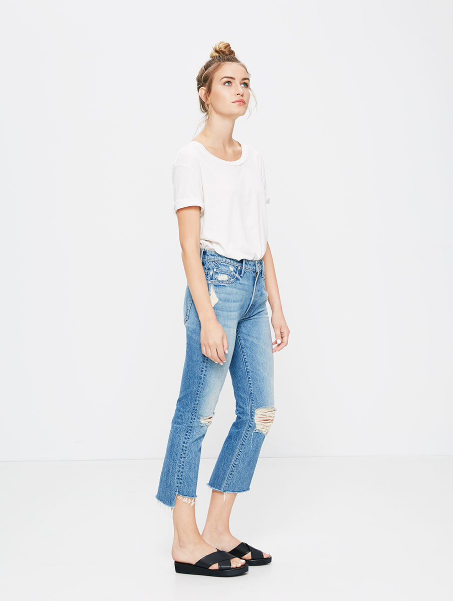 Mullet raw hem jeans by Mother from Nordstrom