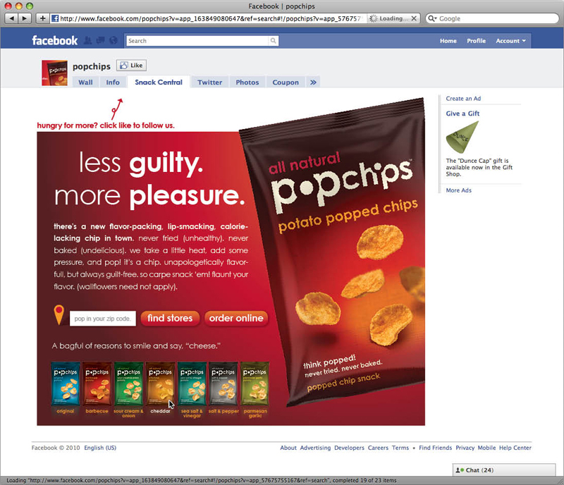 popchips digital: facebook