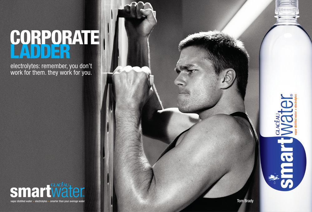 smartwater: tom brady: print/ooh 2009