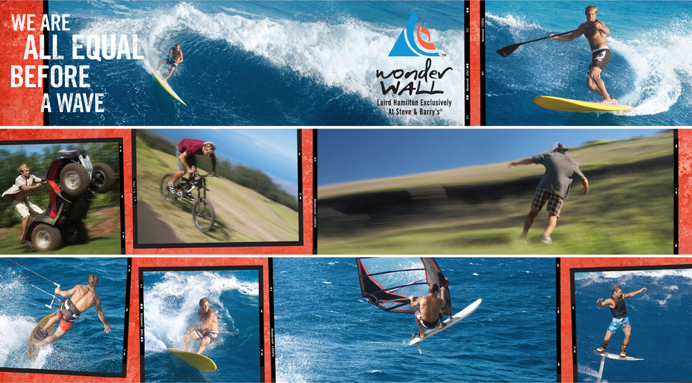 steve & barry's: wonderwall by laird hamilton: instore 2008