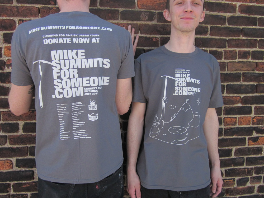 big city mountaineers | summit for someone 2011 | mike summits for someone fundraiser t-shirt