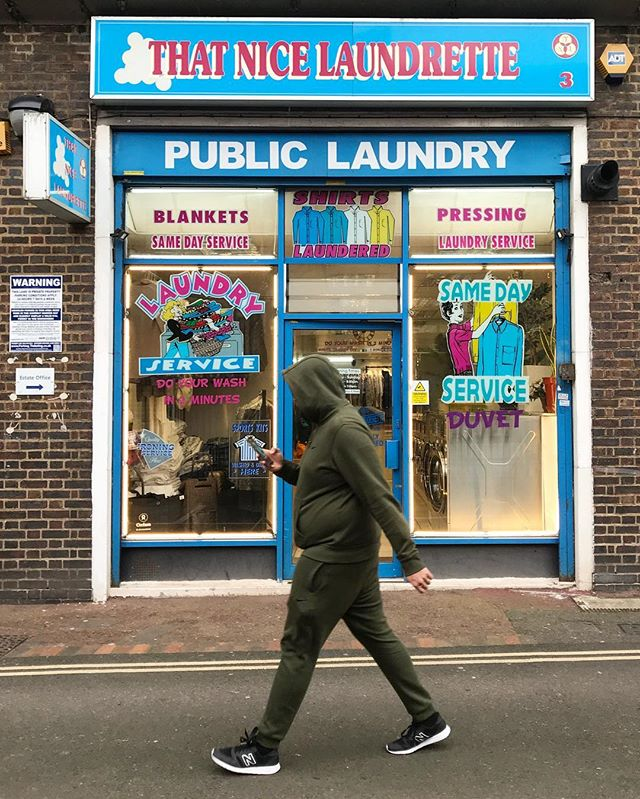 London, UK. #laundromatsofinstagram #laundromat #waschsalon #wassalon #laundrette #launderette #coinlaundry #lavage #laundry #altourism #laverie #facade #minimalism #lavomatic #washing #facade #london #lovelondon #uk #streetphotography
