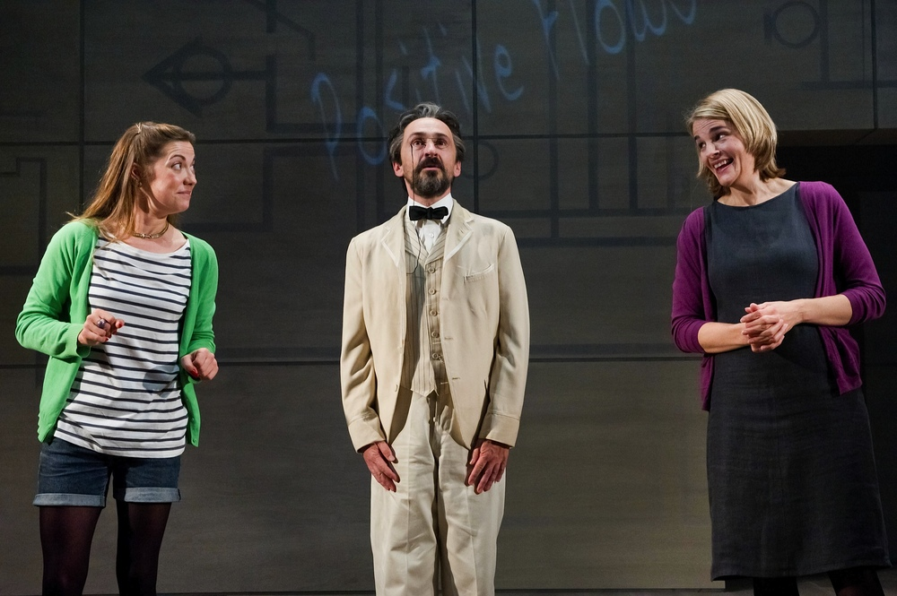 Ruth Everett, Simon Gregor and Emily Raymond in  Chekhov in Hell