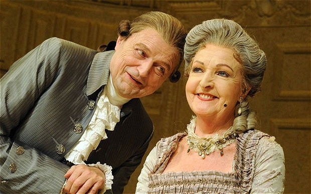 Peter Bowles and Penelope Keith - friends reunited.