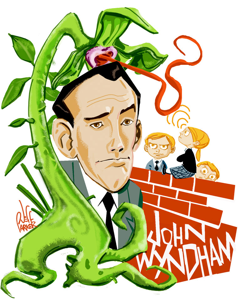Caricature of John Wyndham by Jeff Parker