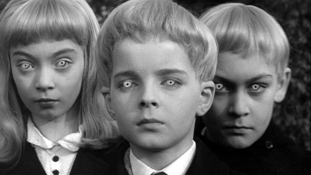 The Children from  The Village of the Damned , the 1960 film adaptation of  The Midwich Cuckoos .