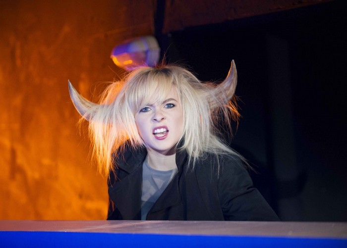 Imogen Doel as a horny beast ( photo: Tristram Kenton )
