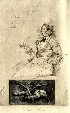 Felicien Rops La Soeur du Pâle Voyou au Rat Mort (1879)