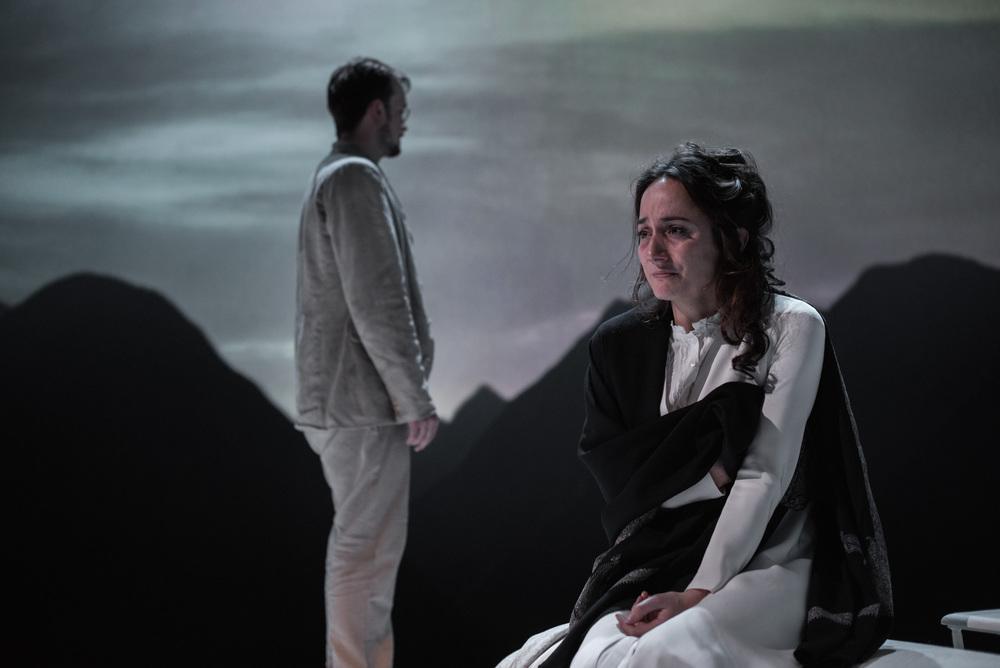 Jolyon Coy & Lydia Leonard in Little Eyolf (Almeida Theatre).Photo: Hugo Glendinning