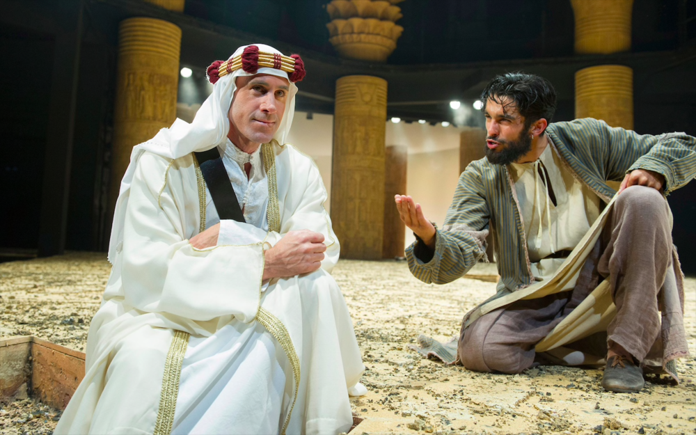 Joseph Fiennes and Eben Figueiredo in  Ross  (Chichester Festival Theatre, 2016) Photographer:Alastair Muir.