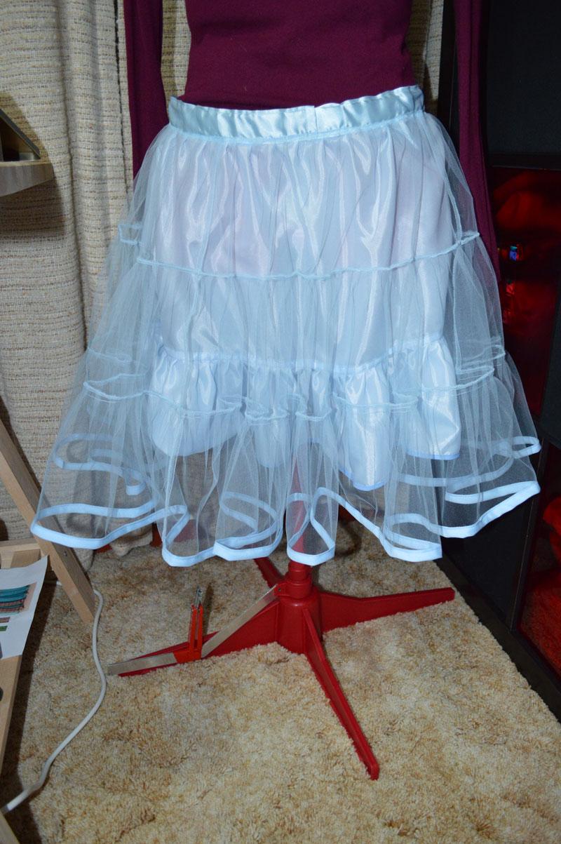 "My most recent petticoat - I call it ""princess blue"" - made for my best friend."