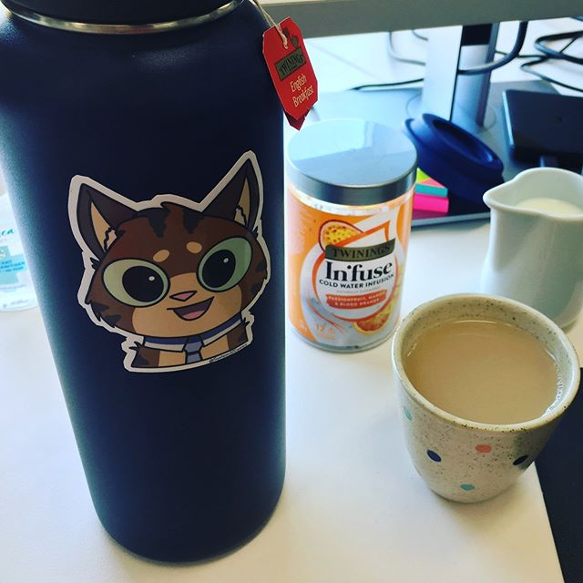 One of my work friends gave me this adorable @system32comics sticker yesterday. It's perfect for my tea thermos 😍 #system32