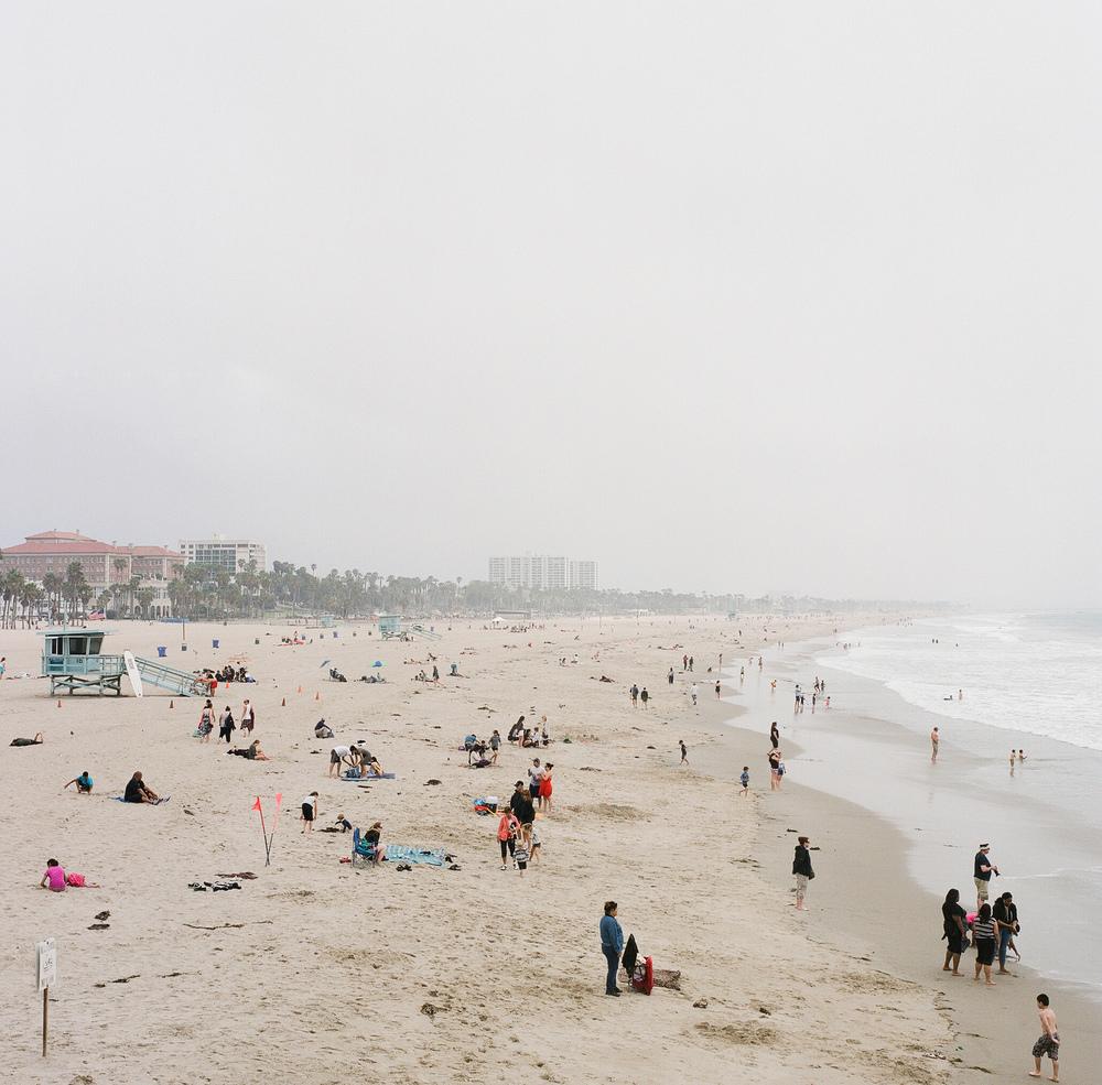 Selected shot: Santa Monica Beach, LA in the smog