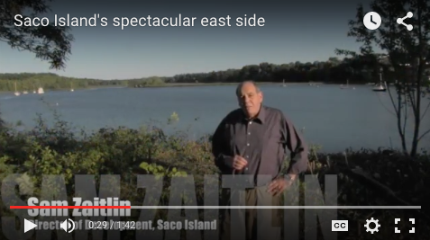 Have you ever wondered what the view is like from the east side of Saco Island, looking down the river? click here to take a peek.