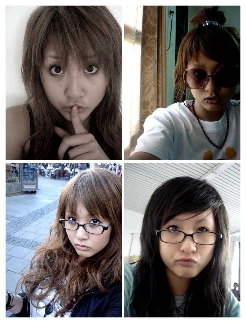 2007 // When i got into gyaru style make-up. Tried and failed. I didn't know how to use eyeshadow and shaved off my eyebrows completely. Shape was weird as well.
