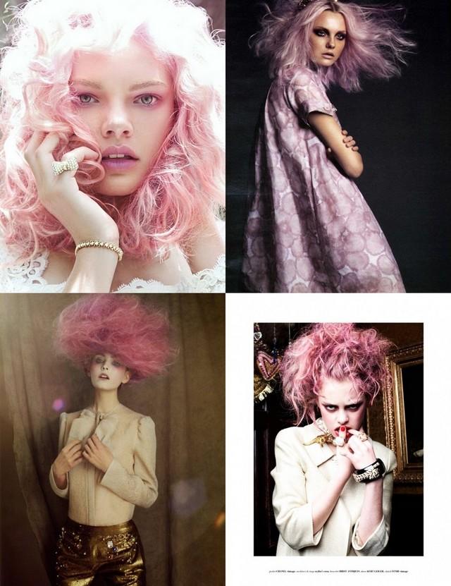 I love pink hair.