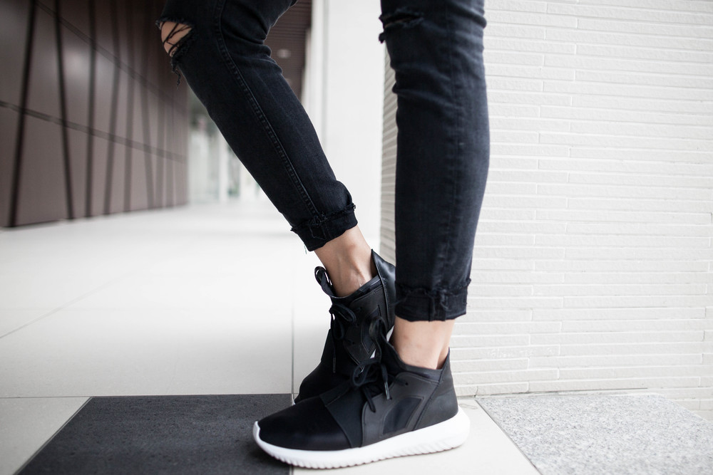 Adidas Originals Tubular Defiant Women 's Running Shoes Black