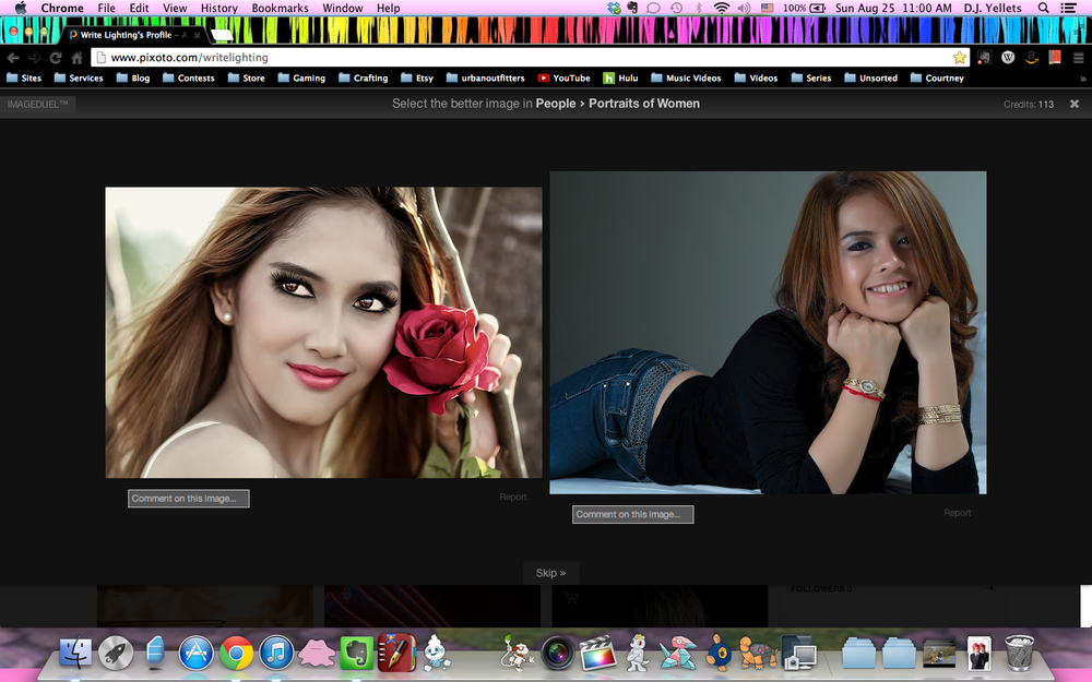 "As you can see on the left, there's a lot of over-processed ""portrait professional"" styled images."