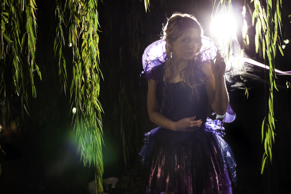 Zylina Light Painting Portrait Model Willow Tree