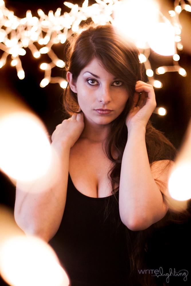 Staring Bokeh Christmas Lights Portraits VezperArt Model.jpg