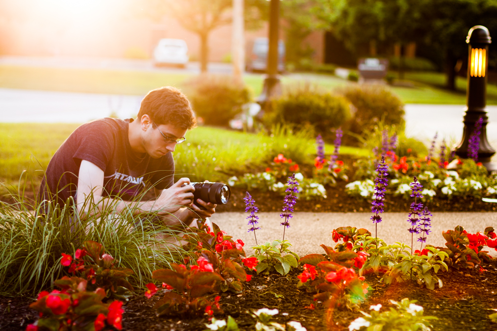 Write Lighting Male Model Portrait Sunset Flowers Photography.jpg