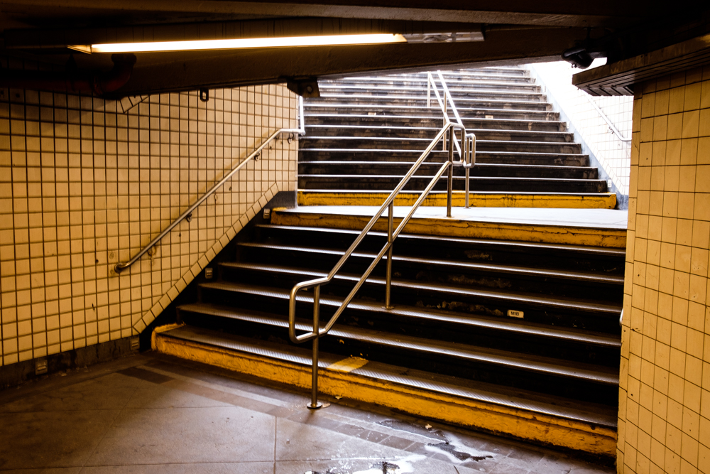 New York City Subway Stairs Journey Write Lighting.jpg