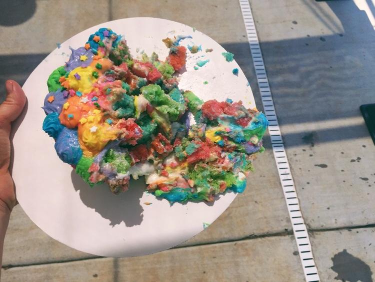 smash cake smashed