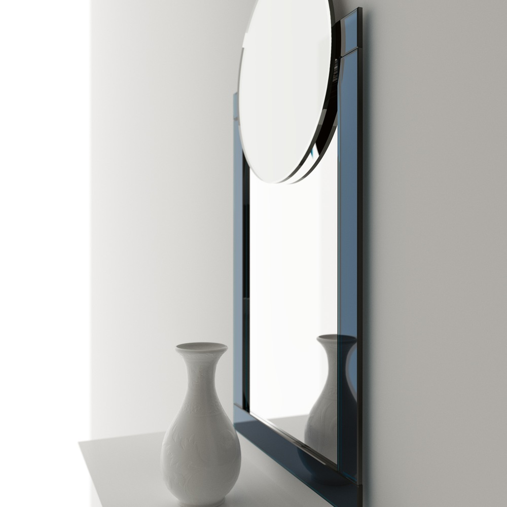 Color mirror side view of art deco hanging wall mirror by color mirror amipublicfo Image collections