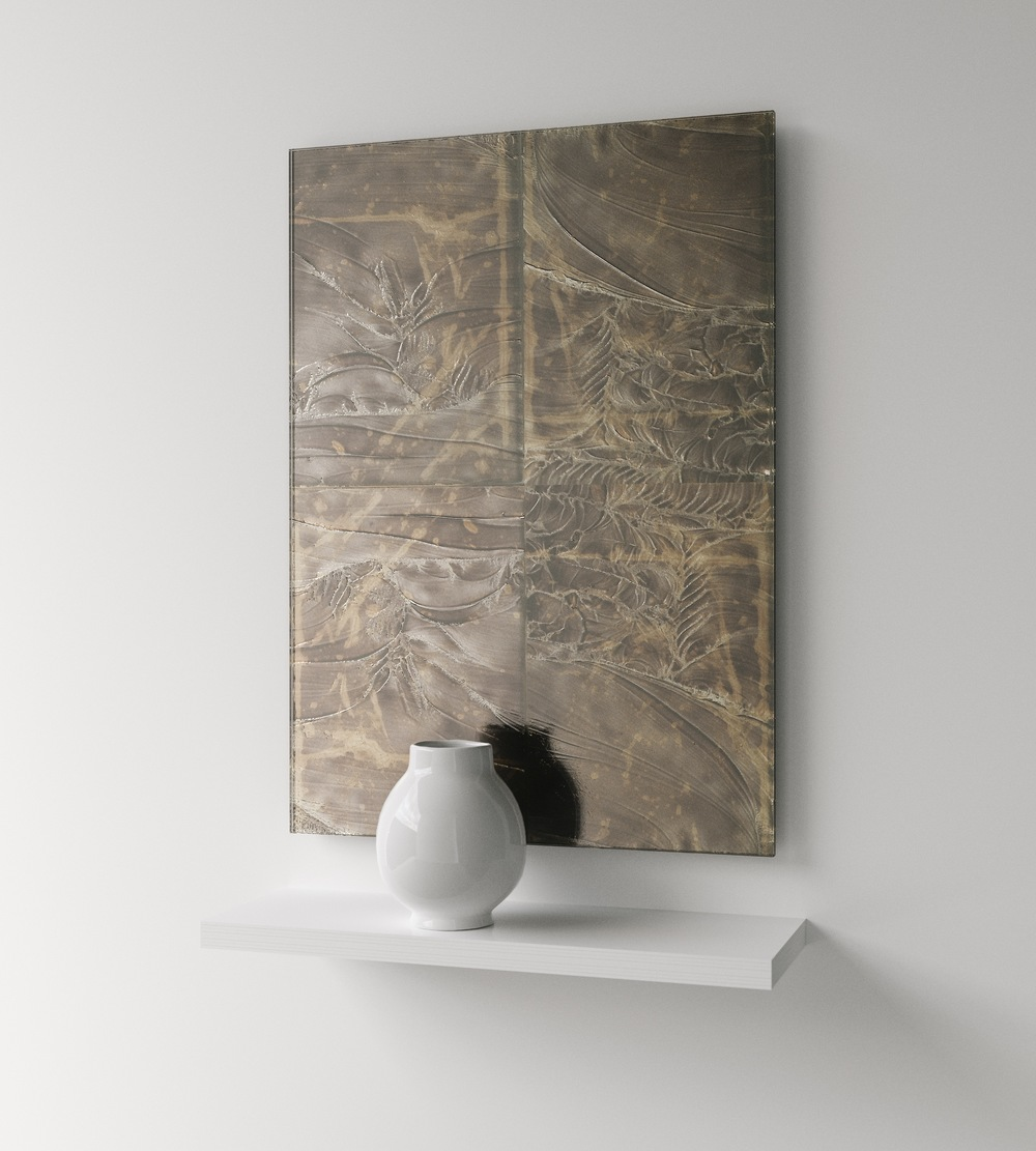 Full photo of antiqued mirror panel