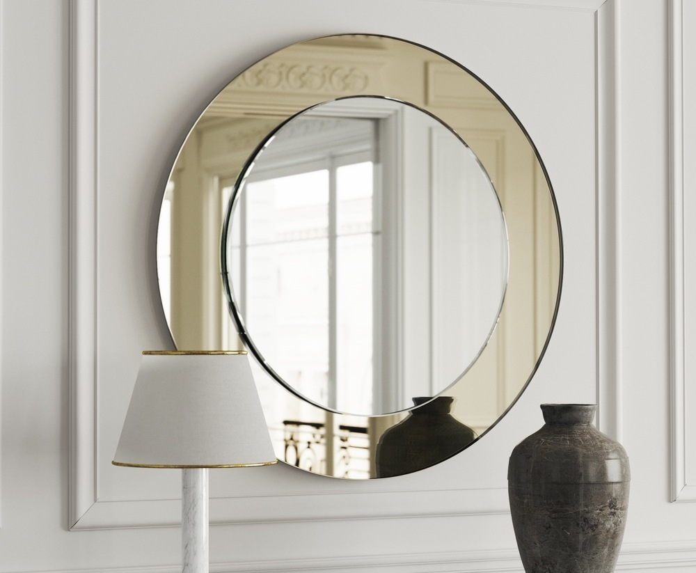 Full view of Art Deco mirror