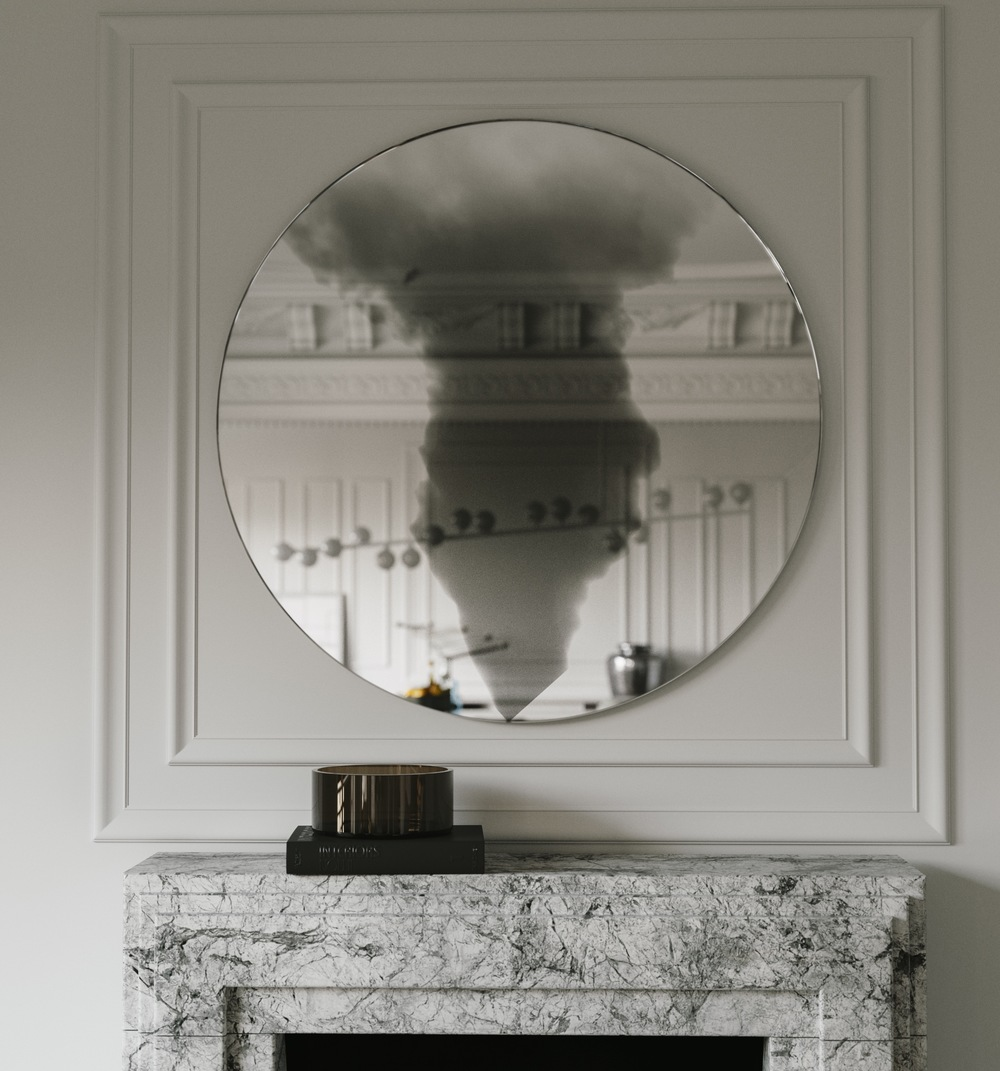 Close view of Smoke Cloud Wall Mirror