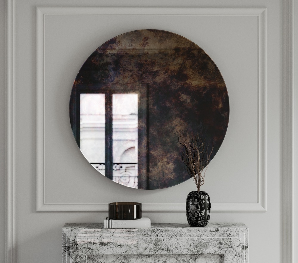 Round Wall Mirror Front Photo