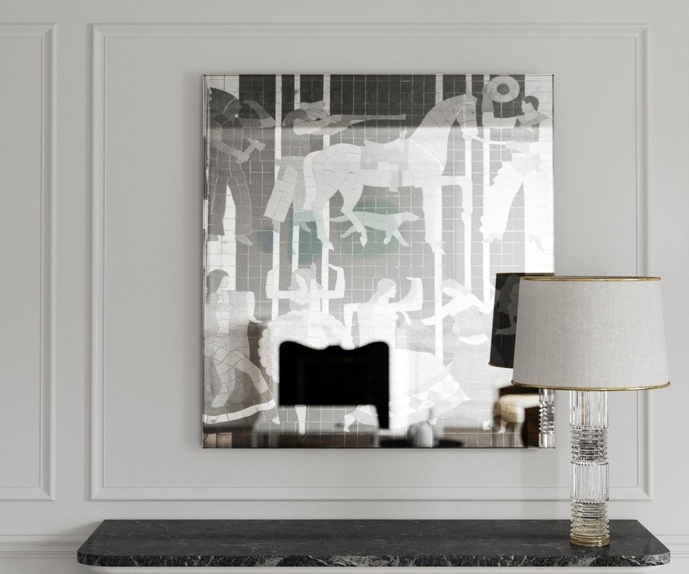 Art Deco Style Verre Eglomise Mirror