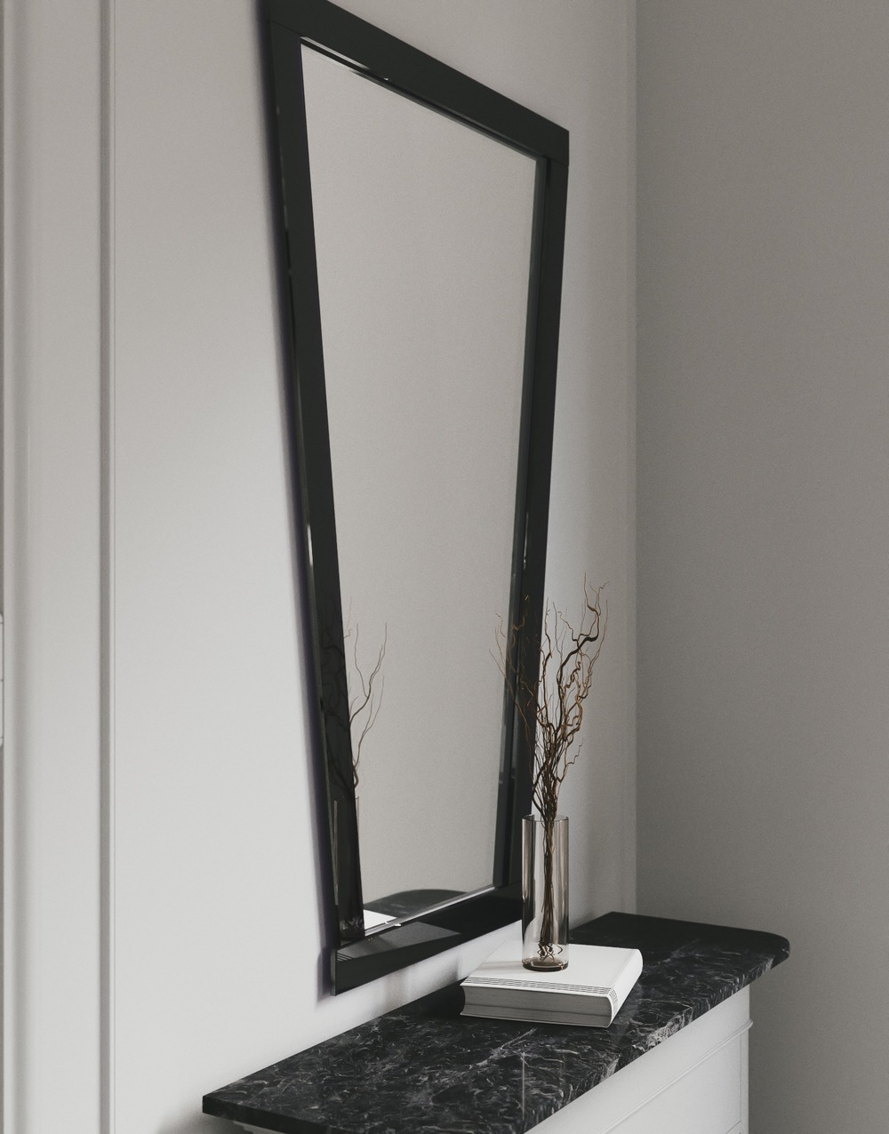 side view of Art Deco Style Mirror