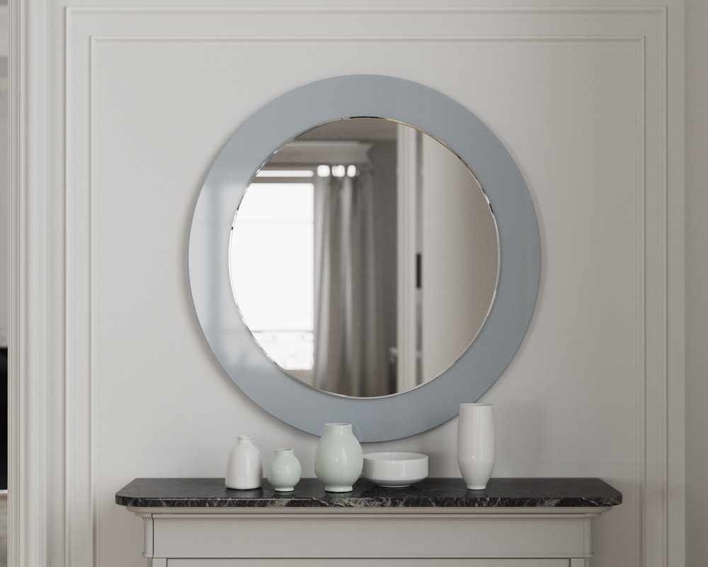 Blue version of round mirror