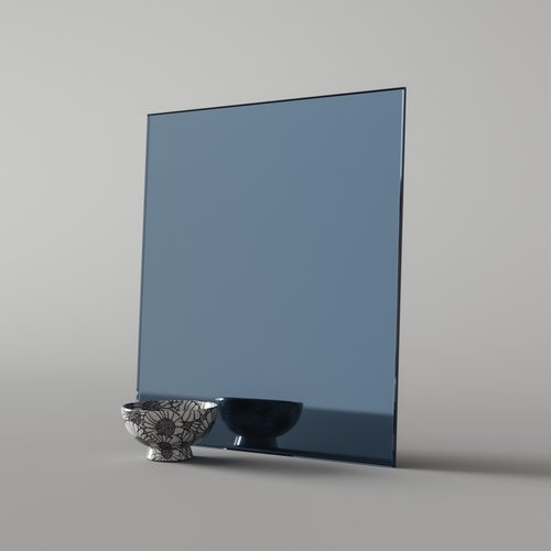 Sample piece of blue mirror material 5006bb07f17