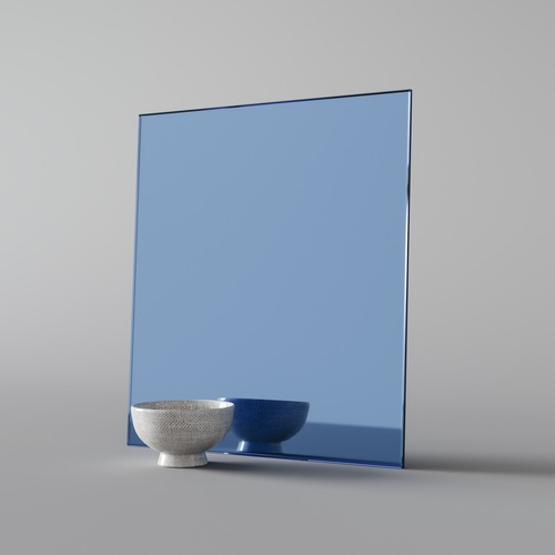 A Lighter Blue Glass Mirror. You can see our  whole collection of colorful mirror here