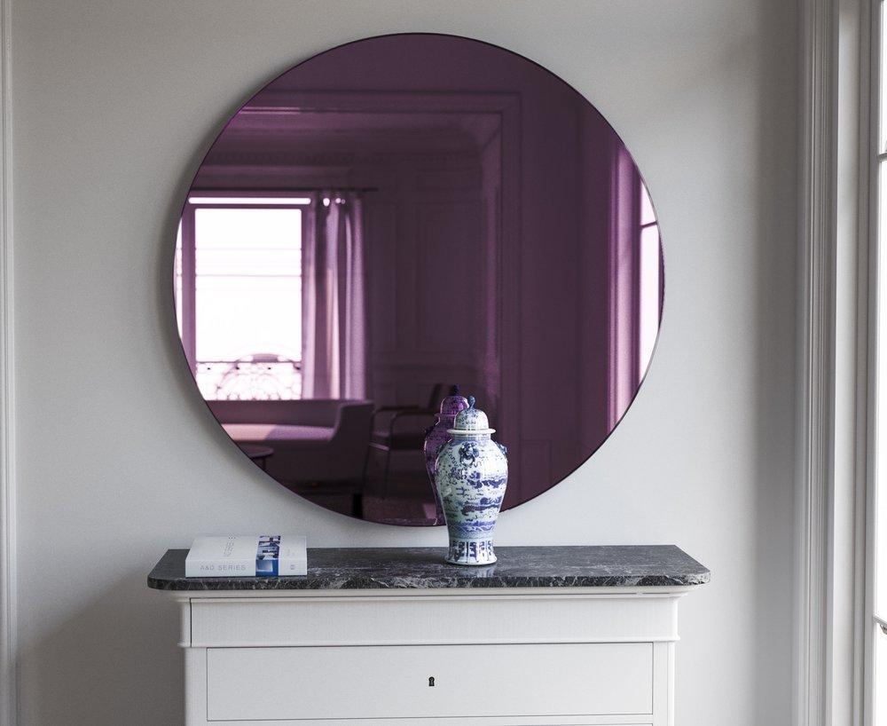 """32"""" Round Purple Wall Mirror"""