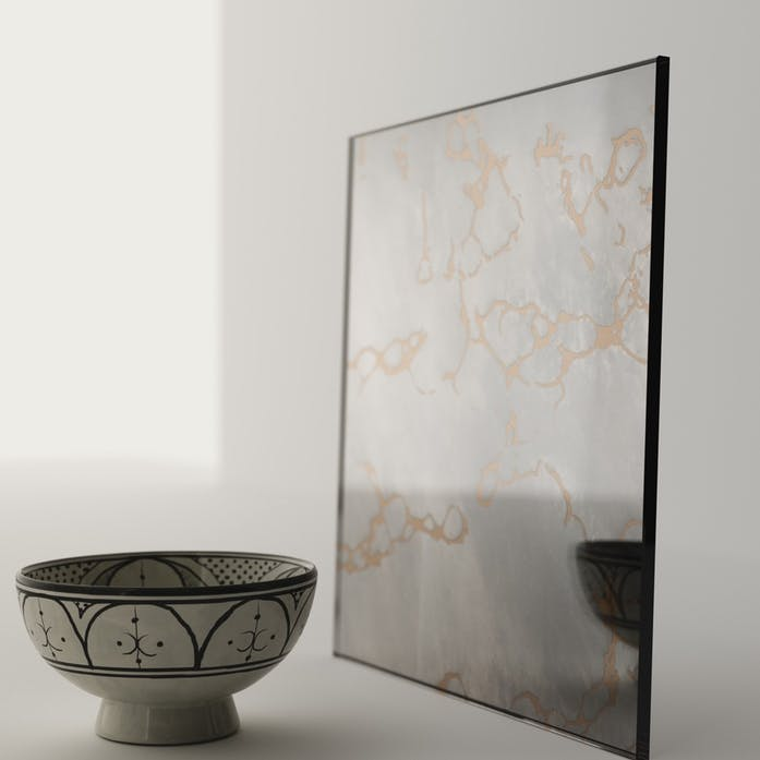 Sample of the Antiqued Mirror Used in This Piece