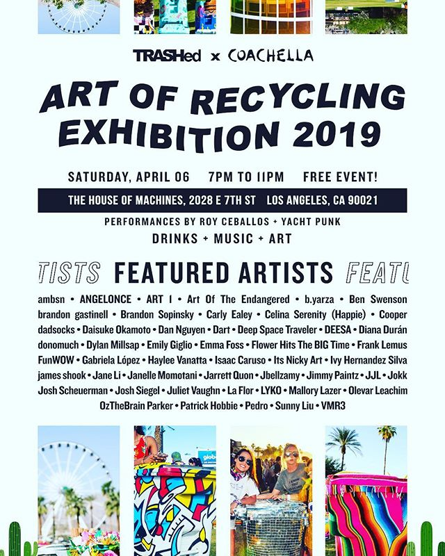 Tomorrow night!! 7-11pm Come check out all the bins that have been blasted with paint for #trashed #artofrecycling before they head off to @coachella presented by @globalinheritance #gettrashed #dtla