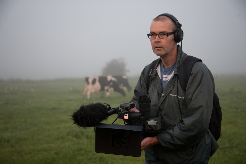 Moo Man Director Andy Heathcote in action
