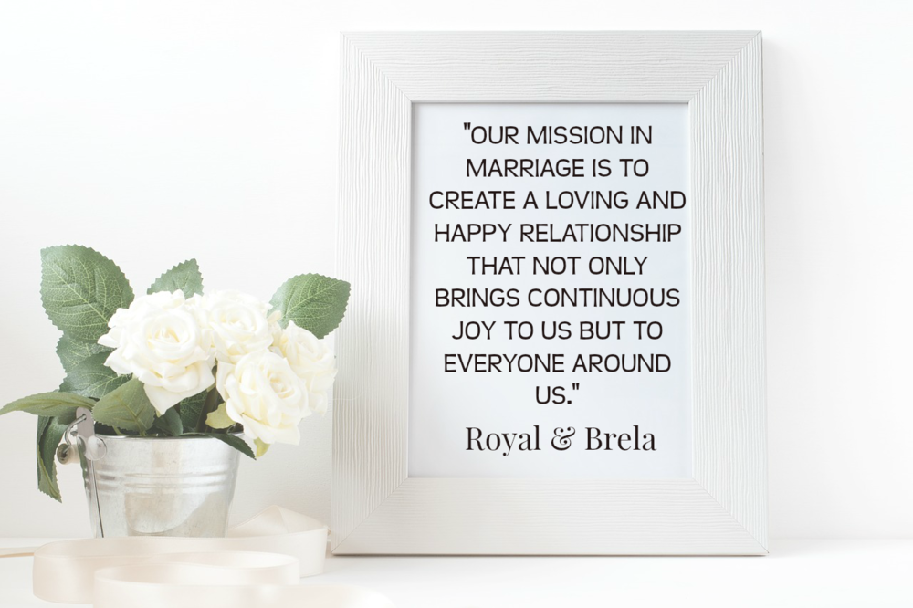 The Delahoussaye Marriage Mission Statement