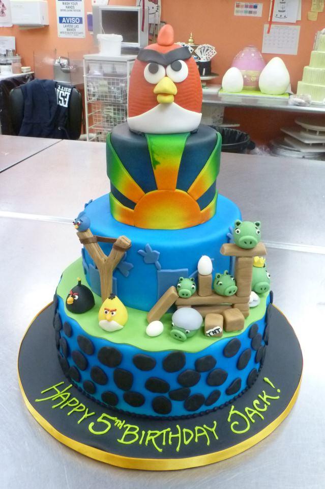 Angry bird groom's cake