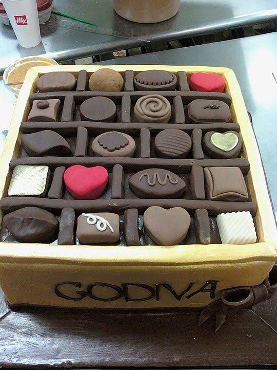 Godiva Chocolates Cake