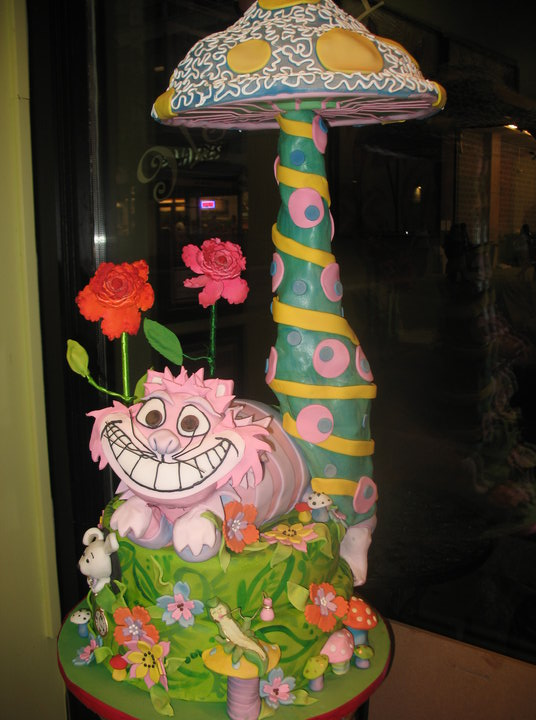 Alice in Wonderland Theme Birthday Cake