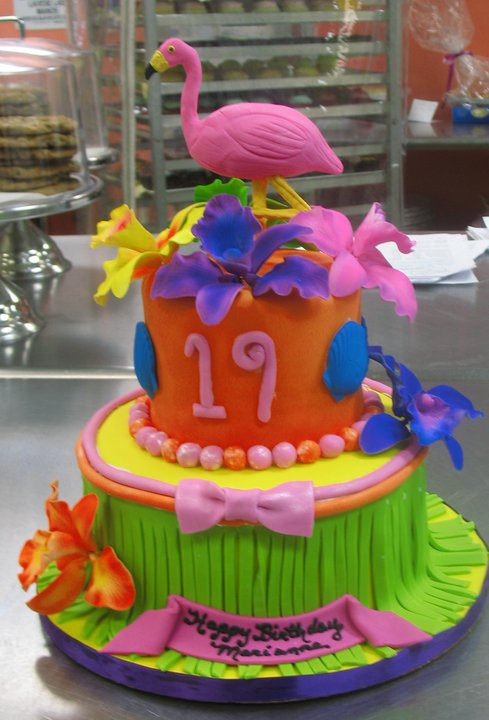 Tropical party cake
