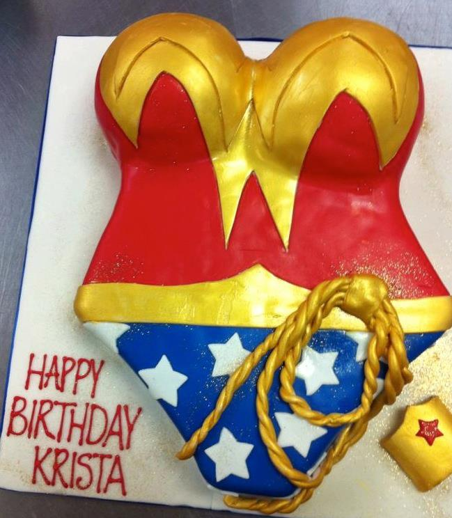 Superwoman Party Cake