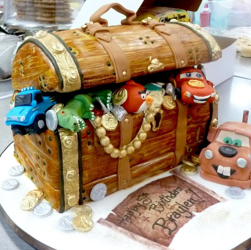Pirates chest birthday cake.